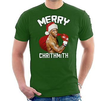 Kerst Mike Tyson Merry Chrithmith mannen T-Shirt