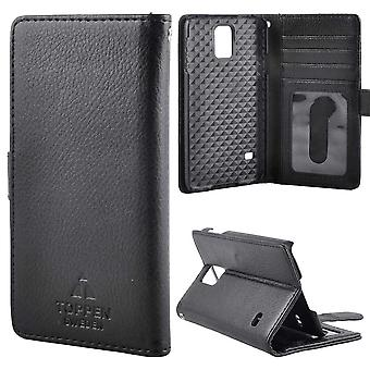 TOP left-handed wallet case Samsung Galaxy S5, Black