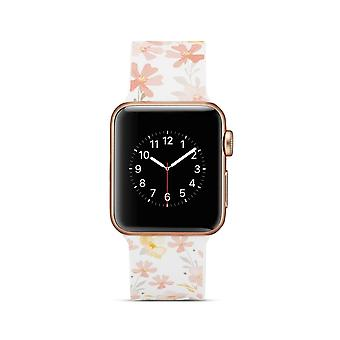 Cinturino per orologio in silicone per Apple Watch 4 40mm, 3/2/1 38mm-Flowers