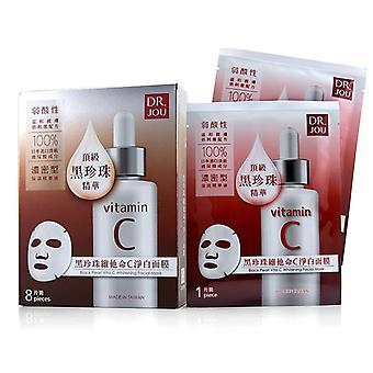 Jou Dr (przez dr Morita) czarny perłowy Vita C wybielania twarzy maska - 8 szt