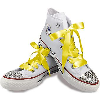 Lemon Yellow Satin Laces