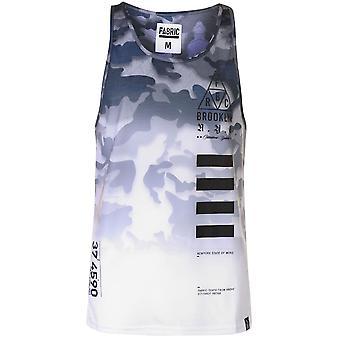 Fabric Mens Camo Vest Muscle Tank Top Sleeveless Crew Neck Lightweight Print All