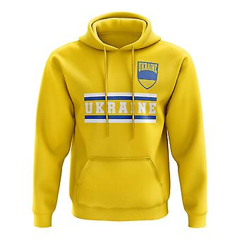 L'Ukraine Core Football pays sweat à capuche (jaune)