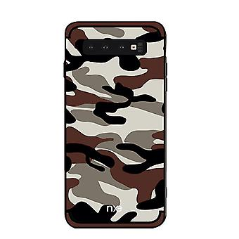 NXE Samsung Galaxy S10 + TPU-shell-camouflage-Brown