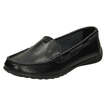 Ladies Down To Earth Leather Loafers F80422