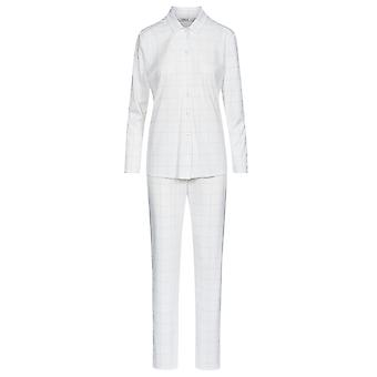 Féraud 3883160-11697 Women's High Class Ivory Off White Plaid Loungewear Set