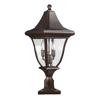 Elstead - 3 Light Medium Post Lantern - Bronze Finish - FE/OAKMONT3/M