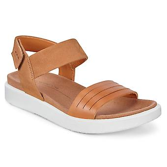 Ecco Womens Flowt Leather Sporty Single Strap Cushioned Sandals