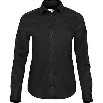 Tee Jays dam/damer lyx stretch shirt