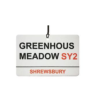Shrewsbury / Greenhous Wiese Street Sign Auto-Lufterfrischer