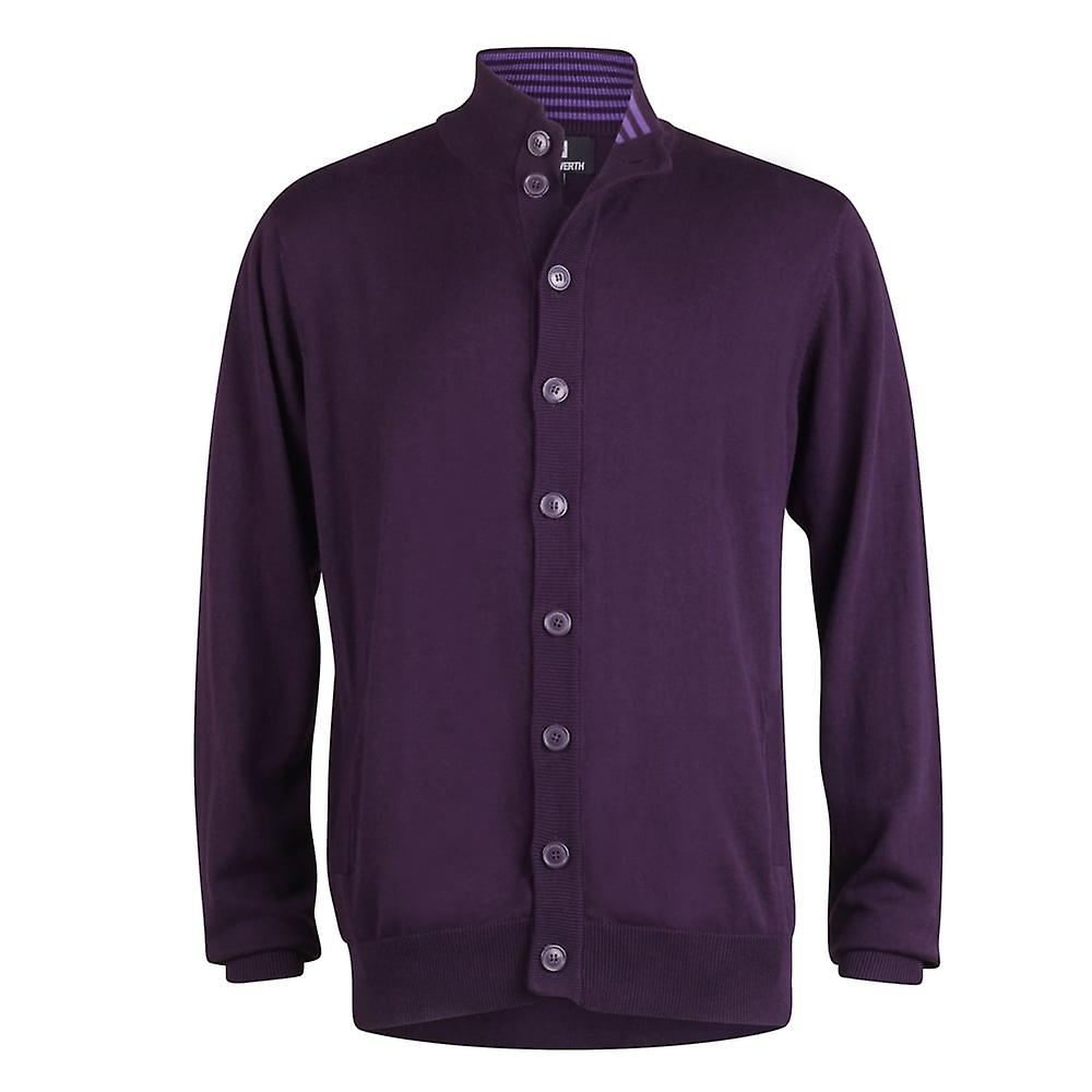 Peter Werth Long Sleeve Button Through Cardigan,Purple