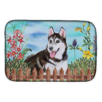 Carolines Treasures CK1274DDM Siberian husky #2 våren oppvask tørking matte