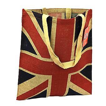 Union Jack Jute Shoulder Bag