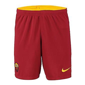 2019-2020 AS Roma Nike Auswärtsshorts (Rot)
