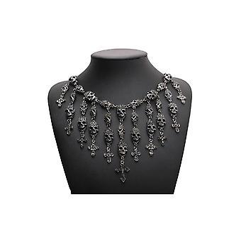 Gotische Haltung - Kristall Schädel - Halskette