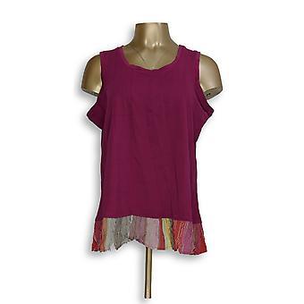 Kelly by Clinton Kelly Women's Top Sleeveless Purple A305895