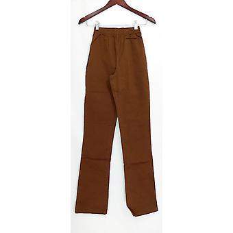 Denim & co. leggings XXS tall stretch Boot cut Brown A01725