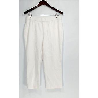 Isaac Mizrahi Live! Petite jeans Knit denim Crop Jeans wit A303203