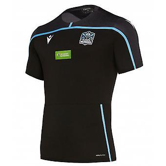 2019-2020 Glasgow Warriors Rugby Poly Gym Tee (Black)