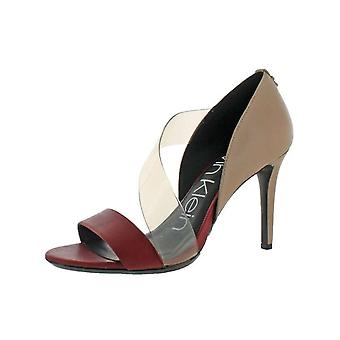 Calvin Klein Womens Nariela Leather Open Toe D-orsay Pumps