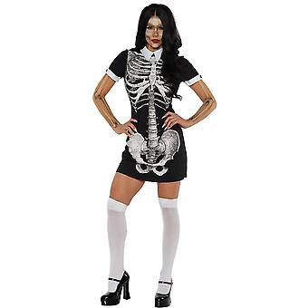 Kvinder sexet skelet kostume