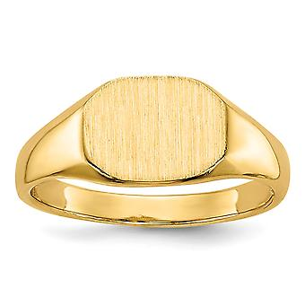 14k Yellow Gold Engravable Signet Ring - 2.1 Grams - Size 2.5