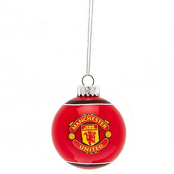 Manchester United Glass Bauble