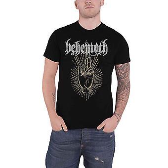 Behemoth تي شيرت LCFR صباح نجمة يرتفع شعار الفرقة الجديدة الرسمية الرجال الأسود