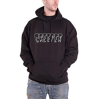 Creeper Hoodie band logo Death Card new Official Mens Black Pullover