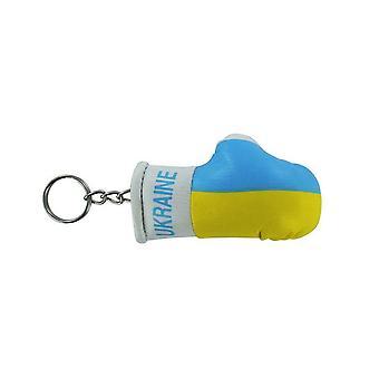 Porte Cles Ukraine Gant De Boxe Drapeau Flag Cle Clef Clefs Ukrainien