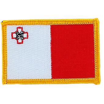 Aufnäher Ecusson Brode Flagge Malta Maltese Thermocollant Insignia Blason