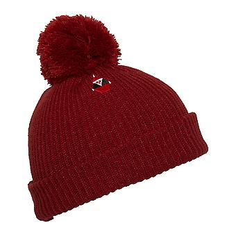 Volcom Santastone Bobble Hat in Deep Red