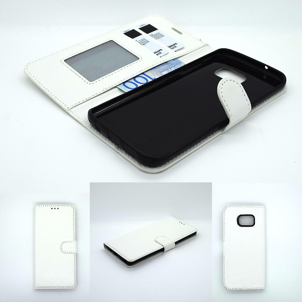 Galaxy S7 edge wallet case protection sky case white