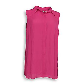 Joan Rivers Classics Collection Women's Top Flowy Blouse Pink A291876