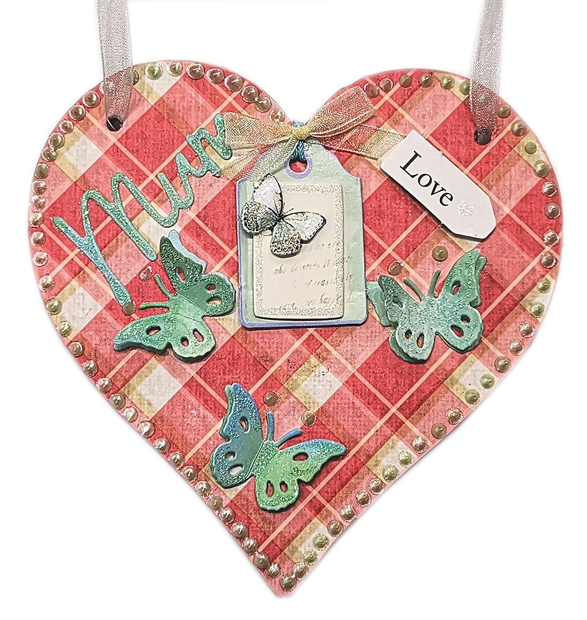 Lilypond Crafts & Gifts Mother's Day Hanging Heart Wall Plaque