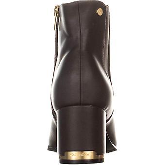 Calvin Klein Womens Fioranna läder blandade Media fotled stövlar