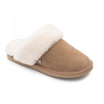 Padders Cosy Ladies lampaan Extra leveä (2E) Tossut Camel