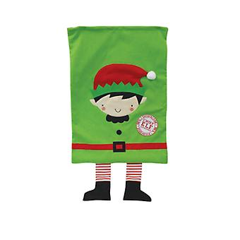 Seasons Greetings Kids Present Sack with Elf Design