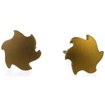 Ti2 Titanium Sun Stud Earrings - Tan Beige