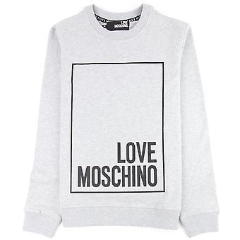 Love Moschino Box Logo Suéter Gris