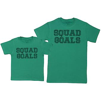 SQUAD GOALS - Kid's Gift Set with Kid's T-Shirt & Father's T-Shirt