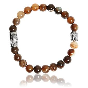 Lauren Steven Design ML057 Bracelet - Agate Caf Men's Natural Stone Bracelet
