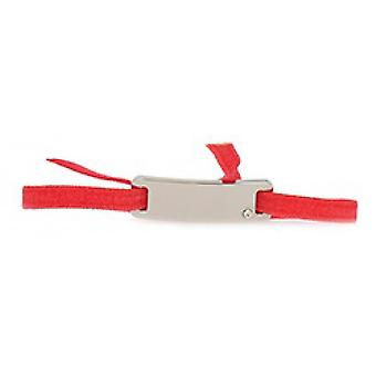 Les Interchangeable bracelet A55655 - Ribbon Plate Smooth Strasse Coral Palladium Women