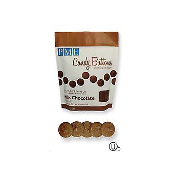 PME Candy Buttons Melts - 12oz 340g - Milk Chocolate Brown