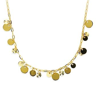 14k צהוב זהב מרובה לנדנד שרשרת חרוז מתכווננת 18 תכשיטים אינץ מתנות לנשים