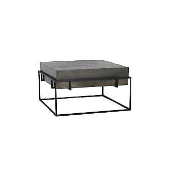 Lekki i żywy stolik kawowy 64x64x35cm Calera Antique Lead