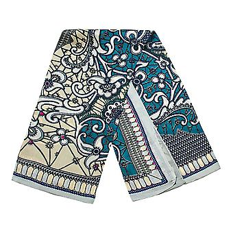 Scarf with paisley pattern - Blue, No. 9
