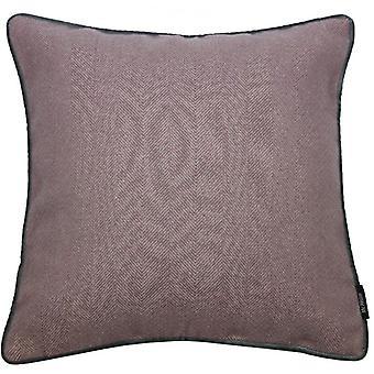 Mcalister Textilien Fischgrät Boutique lila + grau Kissen