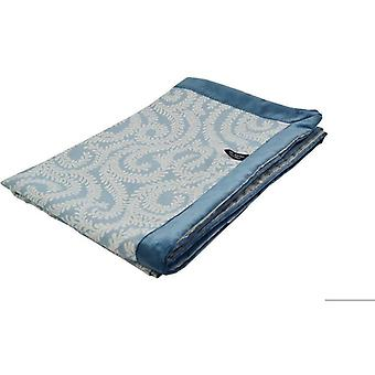 Mcalister textiles little leaf wedgewood blue throw