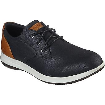 Skechers Mens Darlow Remego Lace Up Casual Dress Shoes